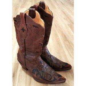 Corral Boots Womens Chocolate Lizard Inlay Western